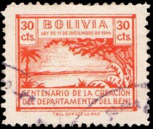 Bolivia - Local Postal Tax Used.