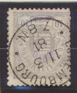 Luxembourg Stamp Scott #43, Used - Free U.S. Shipping, Free Worldwide Shippin...