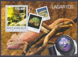2014 Mozambique 7589/B957 Reptiles / Lizards 10,00 €