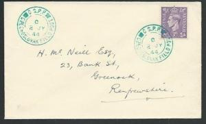 GB 1944 Czechoslovakia Field PO in GB cover, ..............................61257