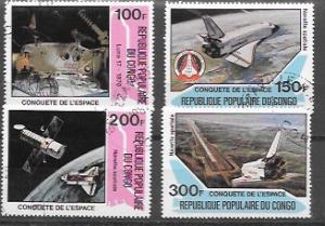 Africa # 580 - 583  Space; Luna 17, Columbia, space shuttle