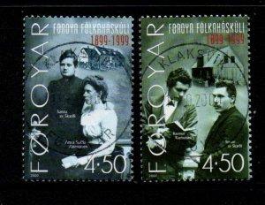Faroe Islands Sc 374-5 2000 100th Anniversary Folk High School  stamp set used