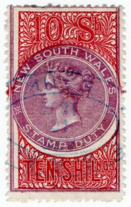 (I.B) Australia - NSW Revenue : Stamp Duty 10/-