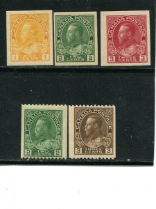 Canada #131,34,136-38  Mint VF NH   - Lakeshore Philatelics