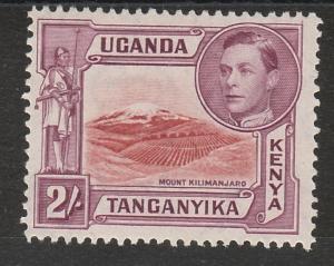 KENYA UGANDA & TANGANYIKA 1938 KGVI MOUNT KILIMANJARO MNH ** 2/- PERF 13.75 X13.