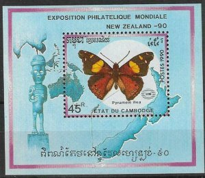 1990   CAMBODIA  -  SG.  MS  1087 -  INTERNATIONAL STAMP EXHIBITION -  MNH