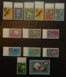 St. Helena 159-72. 1961 1p - 1 Pound QE pictorials, NH