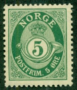 NORWAY #77, Mint Never Hinged, Scott $17.85