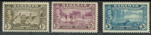 BAHAMAS 1948 300TH ANNIVERSARY 1/- 2/- AND 3/- MNH **
