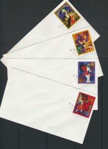 SC# 3939-42 - Lets Dance 2005 on plain covers with FD cancellation