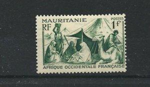 MAURITANIA  1938 - 40  1F GREEN       MH