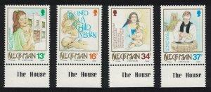 Isle of Man Christmas Maternity Home Church 4v Margins SG#429-432 SC#408-411