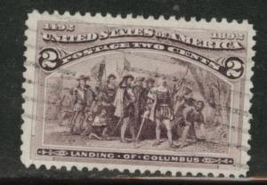 USA  Scott 231 used 1893 Colombian