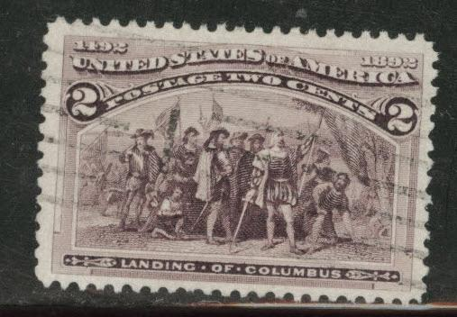USA  Scott 231 used 1893 Colombian