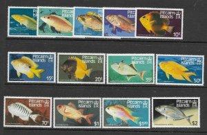 Pitcairn Is  1231 - 243  (SG 246/58) Fish  MNH - VF - CV$8.95