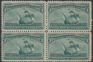 U.S. 232 VF NH Blk/4 (101720)