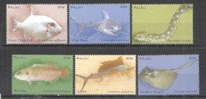 A0169 PALAU FAUNA TROPICAL FISH MARINE LIFE SET MNH