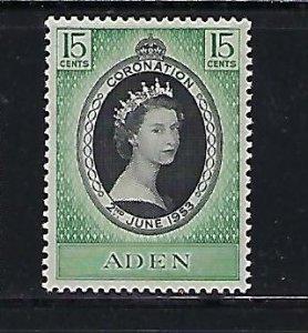 ADEN SCOTT #47 1953 QEII CORONATION ISSUE- MINT HINGED