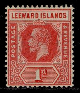 LEEWARD ISLANDS SG60, 1d carmine red, LH MINT.
