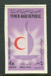 YEMEN;  1963 Red Cross Anniversary issue Mint MNH 4b. IMPERF VARIETY value