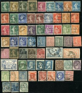 FRANCE Postage Stamp Collection Europe Used