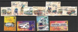 SINGAPORE SG869/77,879/82  1997 TRANSPORT  MNH