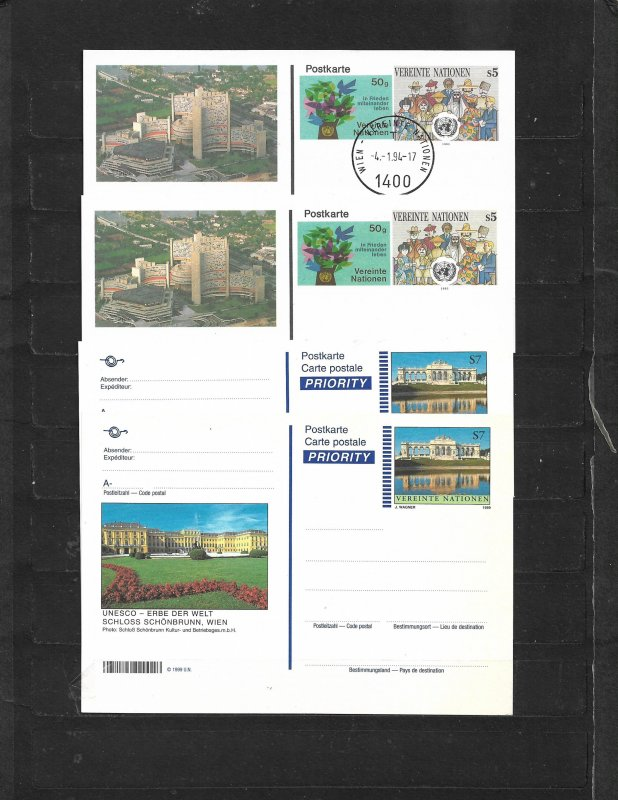 COLLECTION LOT OF 8 UNITED NATIONS FDC & POSTCARD 2 SCAN