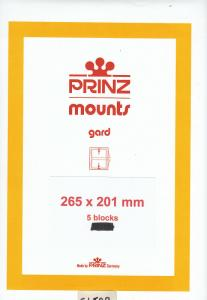 PRINZ CLEAR MOUNTS 265X201 (5) RETAIL PRICE $16.50