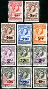 Bechuanaland Stamps # 169-79 MLH VF
