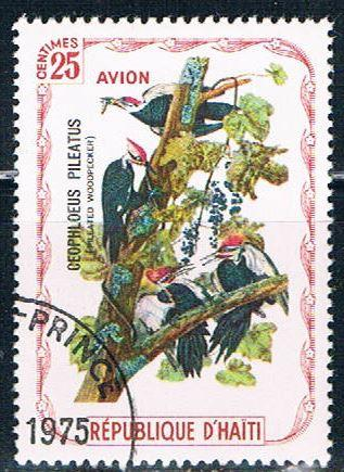 Haiti  Used Woodpecker cancel on LL (H0041)