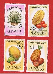 Guyana  #205-208   MNH OG  Christmas  Free S/H