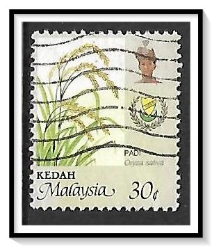 Kedah #136 Agriculture - Coat of Arms & Sultan Used