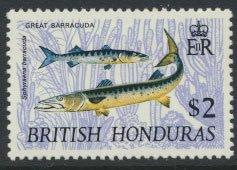 British Honduras SG 266 SC # 224 MLH  Wildlife  Barracuda  1968  see scans