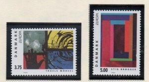 Denmark  Scott 983-84 1993  Europa Modern Art stamp set mint NH