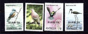 Barbuda 464-67 MNH 1980 Birds overprints