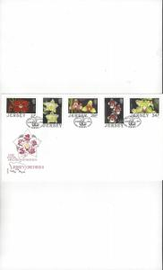 Jersey 442-6 Orchids II FDC Jersey Post Office