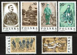 Poland 2776-2781 MNH (1986) Sports - Cycling - Bicycles