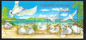 Vanuatu #857a Tropic Birds Sounenir sheet (MNH) CV $11.50