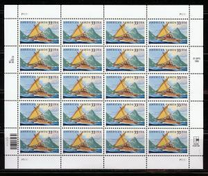 UNITED STATES SCOTT#3399 AMERICAN SAMOA  SHEET OF TWENTY MINT NH