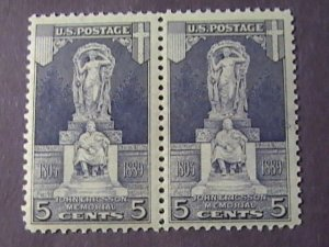 U.S.# 628-MINT/NEVER HINGED--PAIR--JOHN ERICSSON MEMORIAL---1926