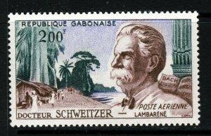 GABON 1963 Dr. Albert Schweitzer 200 Fr. Air Mail SG 197 MNH