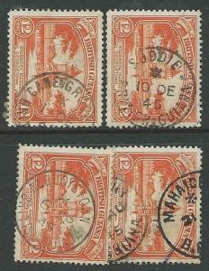 BR GUIANA 1940s pmks of ALBUOYSTOWN, MAHAICA, SUDDIE, CANE GROVE...........43554