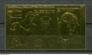 St Vincent gold foil Babe Ruth Professional Baseball player Boston Red sox 10908