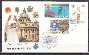Vatican, 06/MAY/89 issue. Pope John Paul II on a Souvenir cover. ^