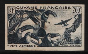 French Guiana 1947 Air Mail 200F (1/3) not perforated USED