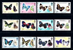 [71246] Belize 1974 Insects Butterflies 12 Values MLH