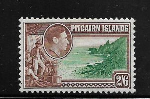 PITCAIRN ISLANDS, 8,  MINT HINGED, FLETCHER CHRISTIAN AT COAST