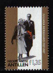Netherlands Antilles 1987  MNH  Golden Wedding Juliana