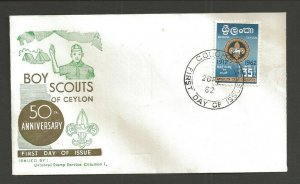 1962 Ceylon Boy Scouts Jamboree FDC- Colombo
