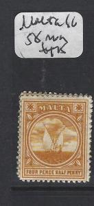 MALTA (P2205B) BOAT YELLOW  SG 58  MOG